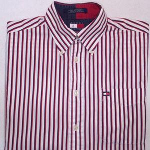 Vintage Tommy Hilfiger Striped Long Sleeve Shirt